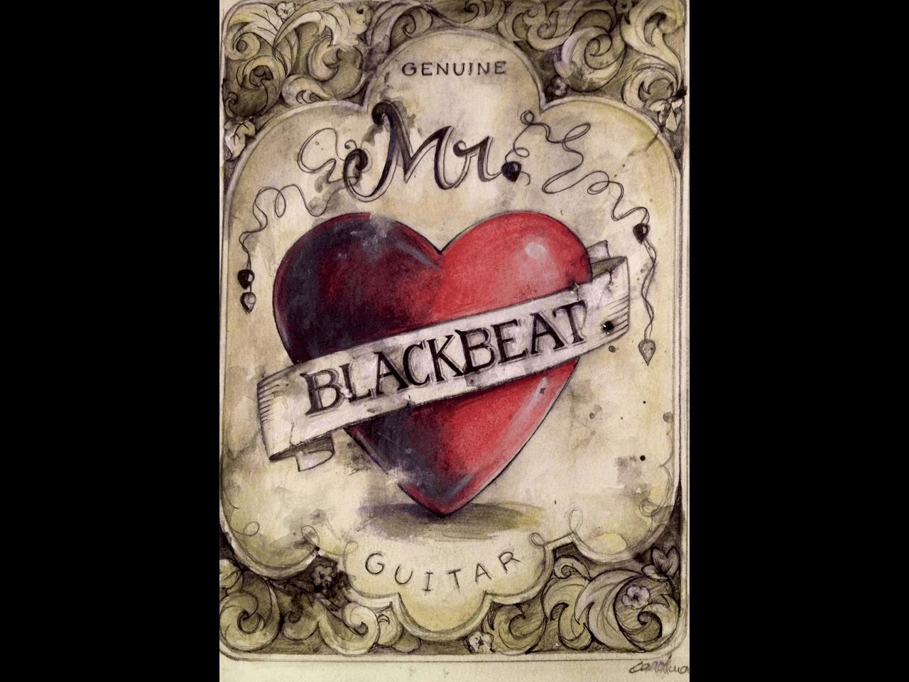 Blackbeat-ilustracion-acuarela-pintora-artistica-Carol-Moreno