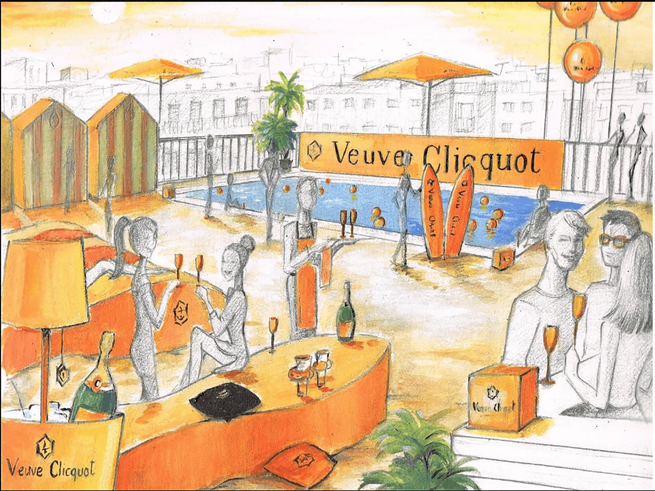 Ilustracion-Pintora-Artistica-para-Veuve-Clicquot-Carol-Moreno