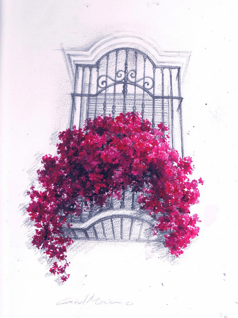 Ilustracion-ventana-colonial-Pintora-artistica-Carol-Moreno