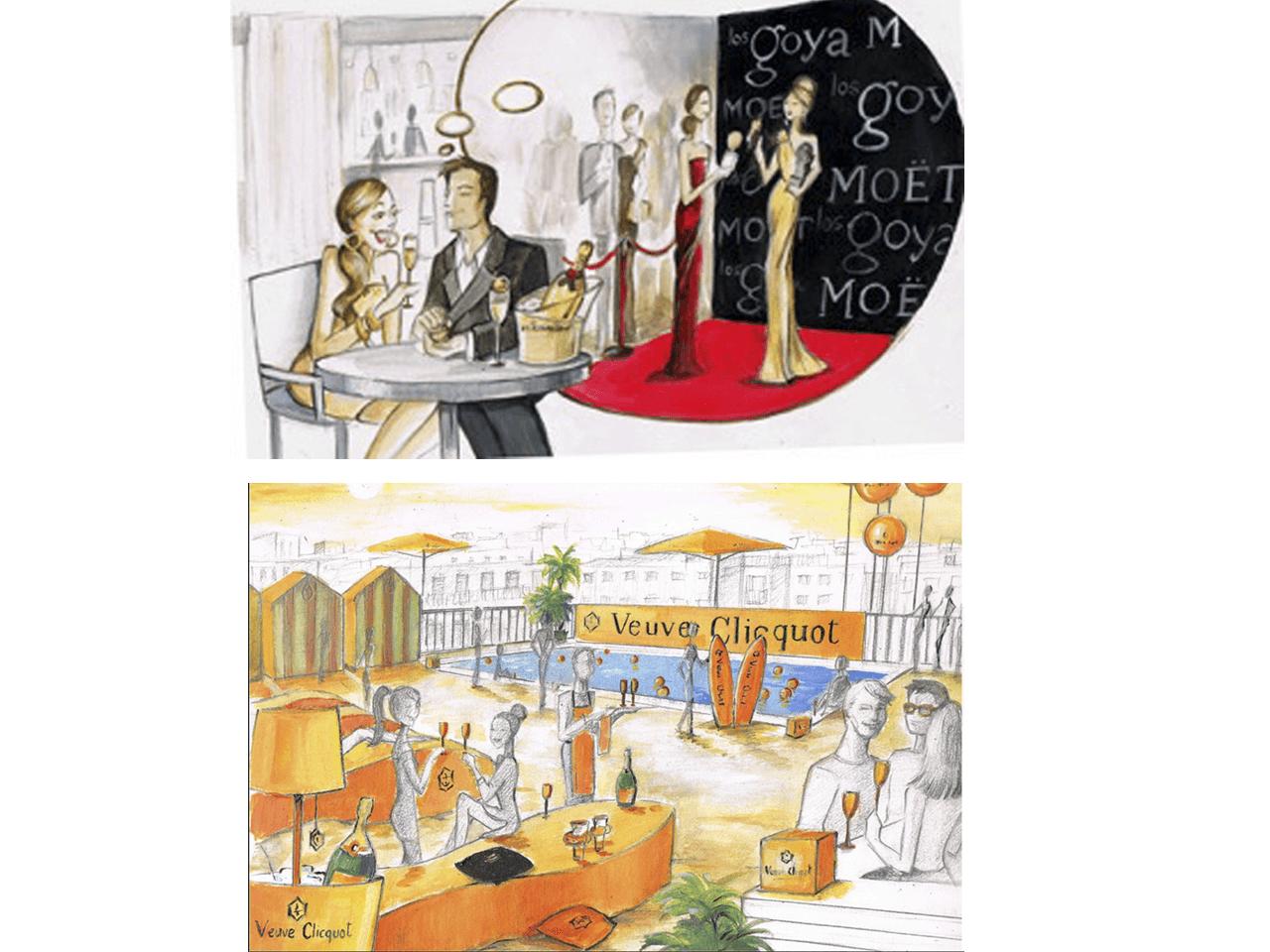 Ilustraciones-Moet-Chandon-Carol-Moreno-Pintora-Artistica-1
