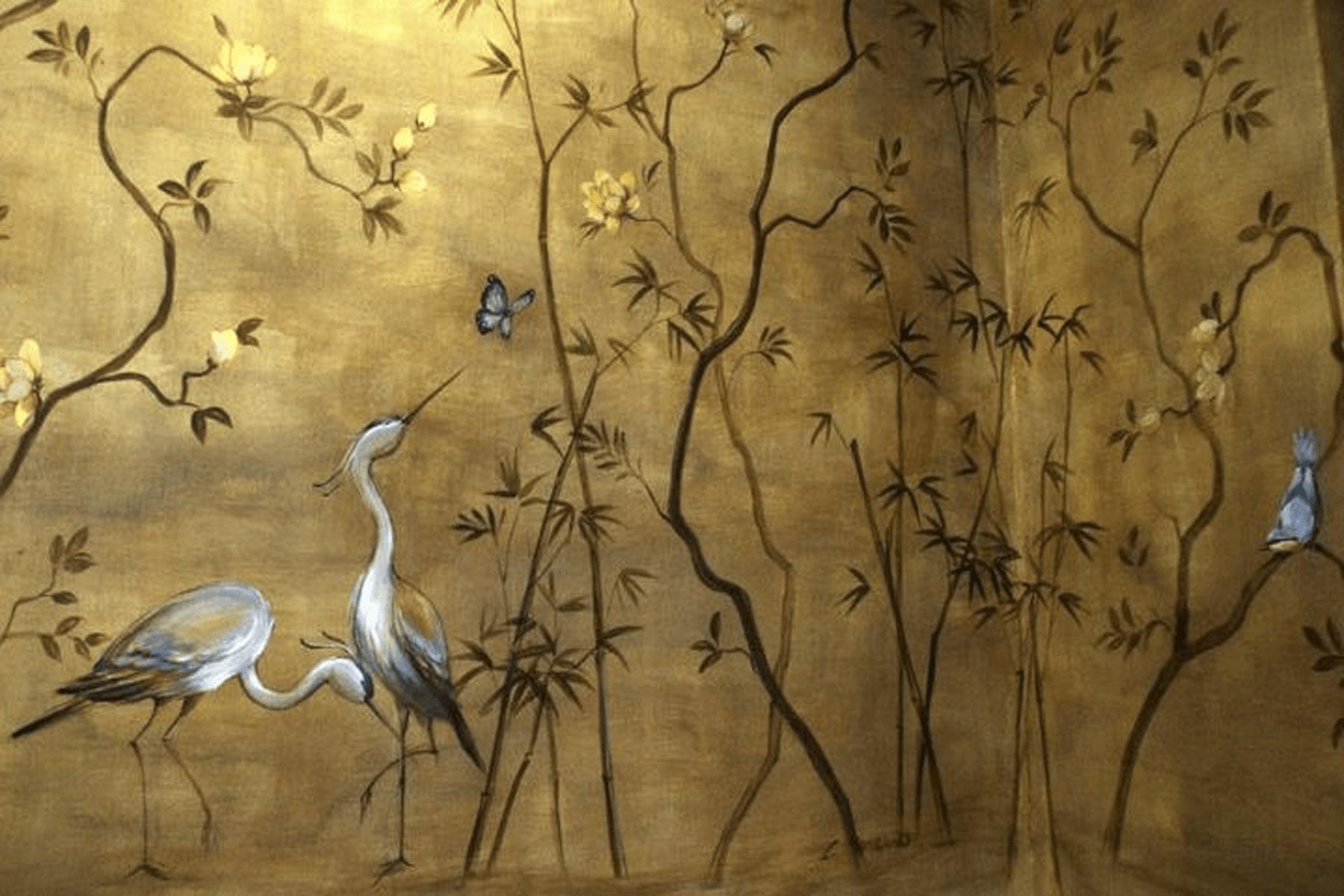 Garzas-Salon-Cugat-Hotel-Palace-Barcelona-Pintora-Artistica-Carol-Moreno-pintura-Mural