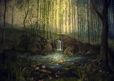 Mural-pintado-paisaje-acrilico-clasico-Carol-Moreno-Pintora-Artistica-Muralista-Barcelona