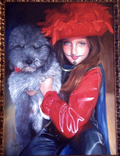 Retrato-Portrait-al-Oleo-pintado-Carol_Moreno-Pintora-Artistica-Muralista-Cuadro-Figurativo