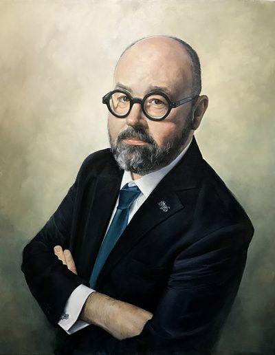 Retrato-carlos-ruiz-zafon-retrato-pintado-oleo-portrait-painting-figurativo-retrarista-carol-moreno