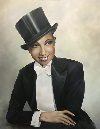Retrato-pintado-josephine-baker-portrait-painting-oil-retrato-figutativo-pintado-carol-moreno-pintor-artistico-retratista-oleo