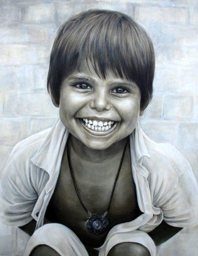 Retrato-portrait-painting-tecnica-acrilico-el-nino-pintora-artistica-Carol-Moreno