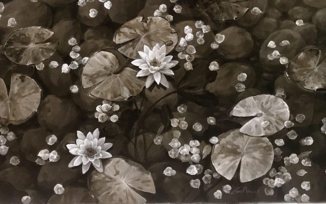 Carol Moreno, la pintora artística expondrá en la Sala d'Art Arimany en Tarragona.